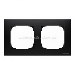 Рамка двойная ABB SKY черный бархат