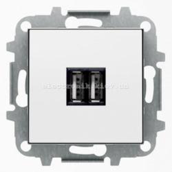 Розетка USB для подзарядки ABB SKY белый