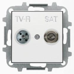 Розетка TV+R+Спутник конц. ABB SKY белый