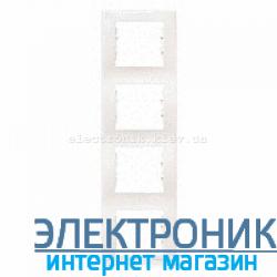 Рамка Schneider-Electric Sedna 4-постовая вертикальная слоновая кость