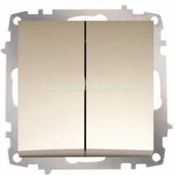 Механизм Выключатель двухклавишный EL-BI Zena Silverline Титаниум