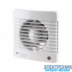 Вентилятор Вентс 150 Силента МТН, оборудован таймером и датчиком влажности