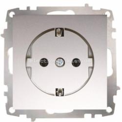 Механизм Розетка с заземлением EL-BI Zena Silverline Серый