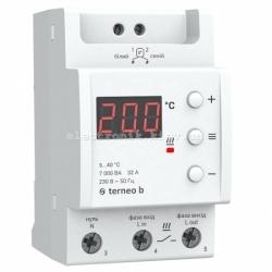 Терморегулятор теплого пола на din рейку terneo b на 32 А