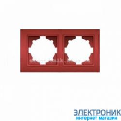 Рамка 2-я EL-BI Zena Colorline Бордовый