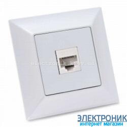 Neoline розетка компьютерная cat. 5E 1-ая белая
