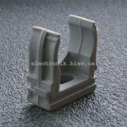 Клипса для гофры —серая 16 мм (упаковка 100шт)
