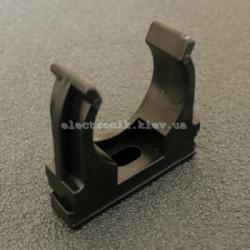 Клипса для гофры черная 25 мм (упаковка 50шт)