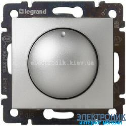 Диммер (Светорегулятор), 400 Вт Legrand Valena (алюминий)