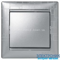 Рамка однопостовая Legrand Valena (алюминий модерн)