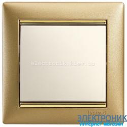Рамка однопостовая Legrand Valena (матовое золото)