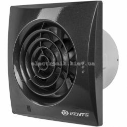 Вентилятор вытяжной на подшипниках Вентс 100 Квайт Черный лак сапфир, оборудован обратным клапаном