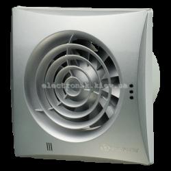 Вентилятор вытяжной на подшипниках Вентс 100 Квайт Алюминий лак матовый, оборудован обратным клапаном