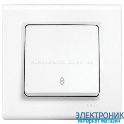 Выключатель проходной одноклавишный VIKO Linnera Белый (90400004)