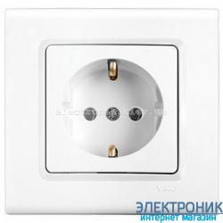 Розетка VIKO Linnera (с заземлением) Белая (90400008)