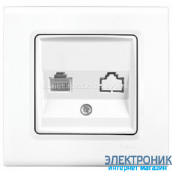 Розетка телефонная RJ11 VIKO Linnera Белая (90400013)