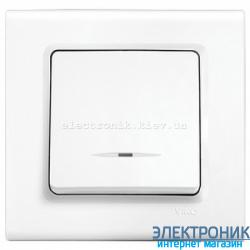 Выключатель с подсветкой одноклавишный VIKO Linnera Белый (90400019)