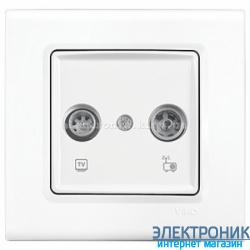 Розетка ТВ / SAT   VIKO Linnera Белая (90400060)