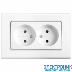 Розетка двойная VIKO Linnera Белая (90400055)