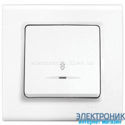 Выключатель проходной с подсветкой одноклавишный VIKO Linnera Белый (90400063)