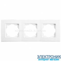 Тройная горизонтальная рамка VIKO Linnera Белая (90480003)