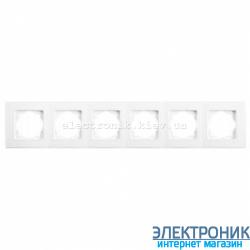 Шестерная горизонтальная рамка VIKO Linnera Белая (90480006)
