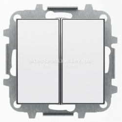 Выключатель 2-клавишный проходной ABB SKY белый
