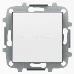 Выключатель 1-клавишный кнопочный без фиксации ABB SKY белый