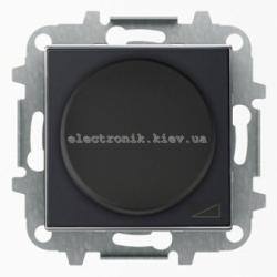Диммер поворотный для LED лампочек ABB SKY черный бархат