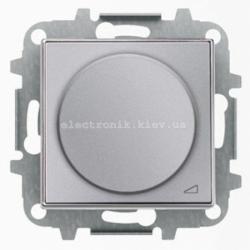 Диммер поворотный для LED лампочек ABB SKY нержавеющая сталь