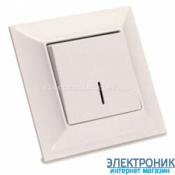 Neoline выключатель 1-кл. с подсветкой кремовый