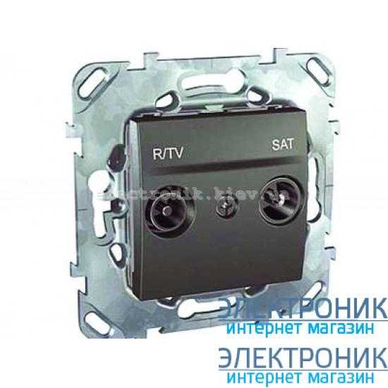 Schneider (Шнайдер) Unica графит розетка оконечная R/TV/SAT