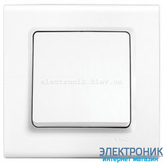 Выключатель одноклавишный VIKO Linnera Белый (90400001)