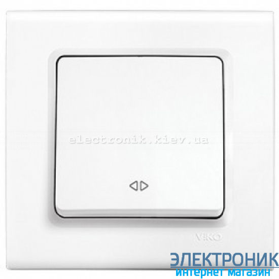 Выключатель реверсивный одноклавишный VIKO Linnera Белый (90400031)