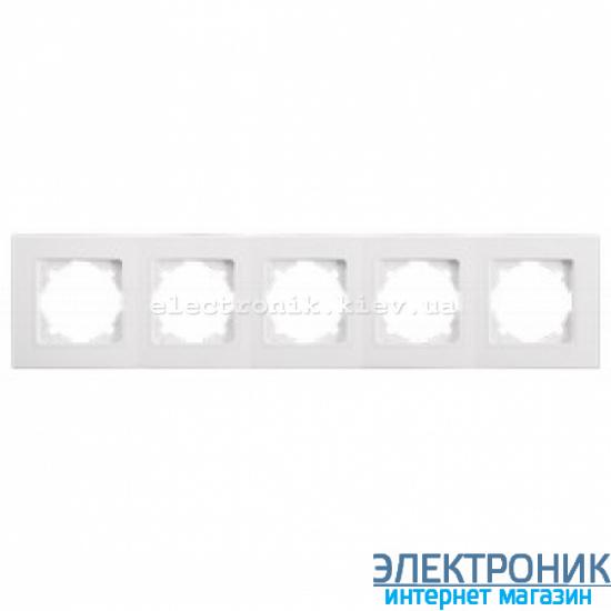 Пятерная горизонтальная рамка VIKO Linnera Белая (90480005)